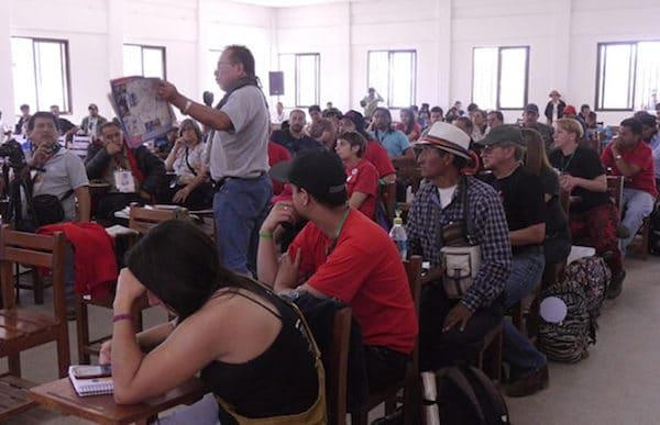   Participants of the Second Latin American Encounter of Anti Imperialist Communicators gathered in Vallegrande Bolivia Photo credit Resumen Latinoamericano   MR Online
