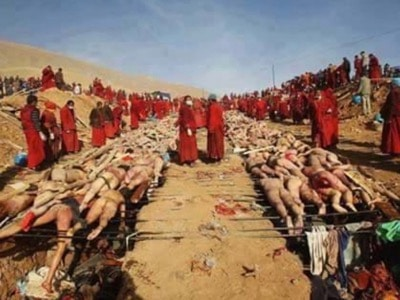 Photo of earthquake victims in China used by the Turkish government to claim Muslim were bing killed by Buddhist monks in Burma
