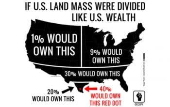 If U.S. land mass were divided like U.S. wealth.