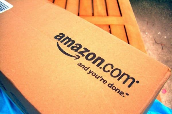 Amazon box (Photo by Mike Seyfang)