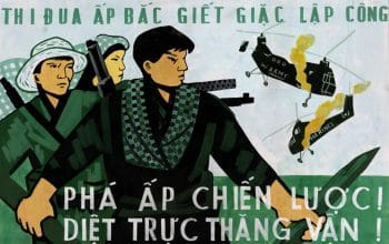 Poster commemorating The Battle of Ấp Bắc