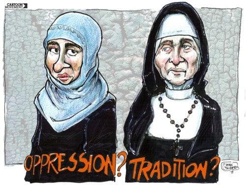 Burqas and nuns