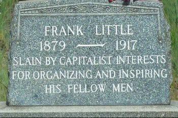 Frank Little's tombstone