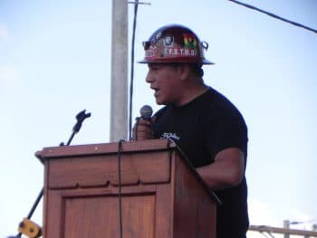 Hard hat speech.