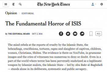 "…along with the bombing of ISIS (New York Times, 10/2/14), and every other major new front in the ""War on Terror."""