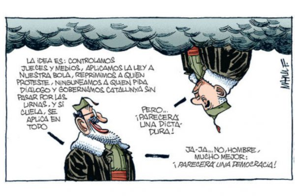 Big day for Rajoy's decision on taking over Catalonia. (El Diario)