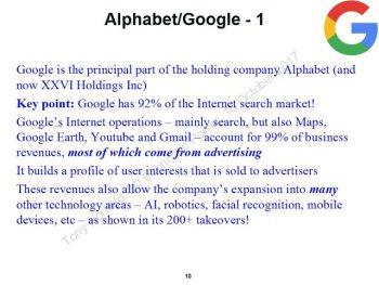 Alphabet/Google. (Tony Norfield)