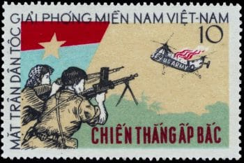 Stamp commemorating The Battle of Ấp Bắc