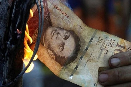 Burning bolivar