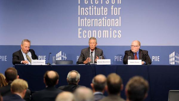 Video of Rethinking Macroeconomic Policy Conference: Olivier Blanchard and Lawrence H. Summers.