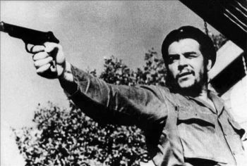 Che Guevara during target practice Photo: Archive