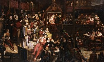 White people; Viewing the Performance of 'The Merry Wives of Windsor' in the Globe Theatre (1840) by David Scott. Photo courtesy the V&A Musuem