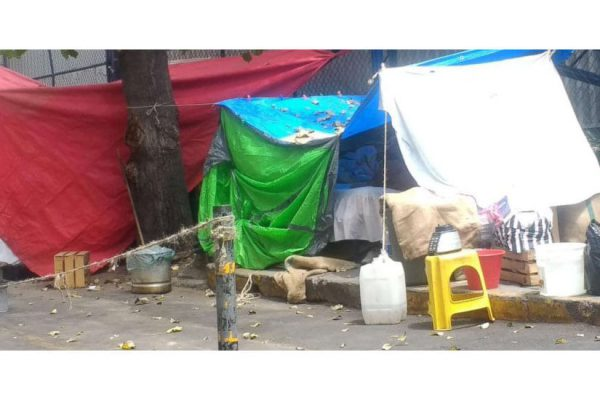 Homeless after Sept. 24, 2017 earthquakes in Mexico