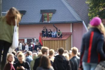 Protestors at the Göteborg anti-fascist demo / Own Work