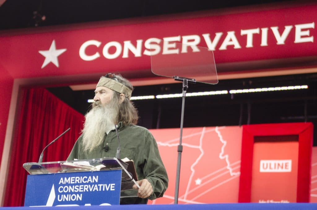 Phil Robertson at the 42nd annual Conservative Political Action Conference