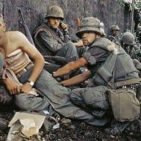 A Marine receives medical treatment in Vietnam
