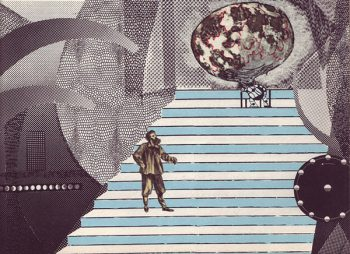 Illustrations by Adolf Hoffmeister for the 1964 Czech translation of The First Men in the Moon by H. G. Wells.