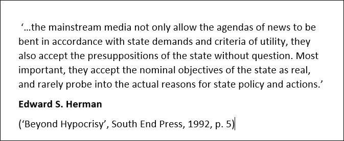 Edward S. Herman quote (via @medialens)