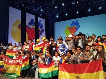 The Bolivian delegation represented the summit´s largest delegation with 60 delegates representing diverse social movements from the Andean nation. (Jeanette Charles/Venezuelanalysis)