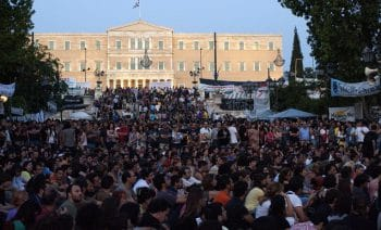 Indignados Syntagma protest in Athens, Greece (June 2011)