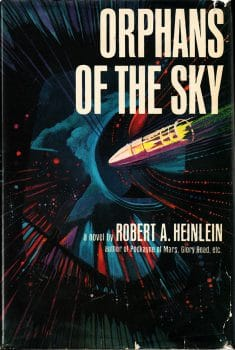 Cover of the first US edition of Robert A. Heinlein's science fiction novel Orphans of the Sky (New York: G. P. Putnam's Sons, 1964).