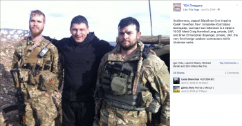 Picture of U.S. soldiers Craig Hannibal Lang and Brian Christopher Boyenger in Ukraine