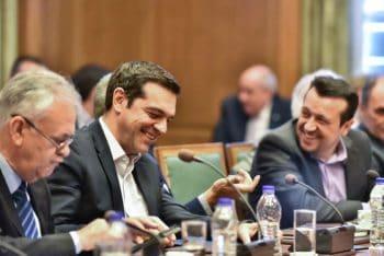 Yanis Dragasakis, Alexis Tsipras, Nikos Pappas