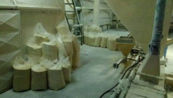 Bags of corn flour left to rot seen inside Demaseca's company plant in Venezuela. | Photo: Alba Movimientos