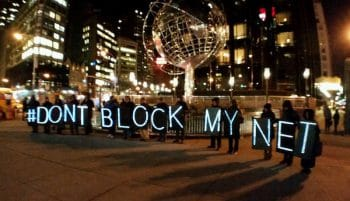 'Don't block my net' protesters