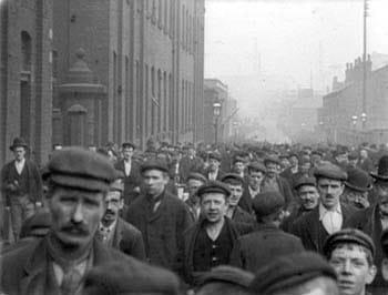 Workmen Leaving Platt's Works, Oldham 20th August 1900