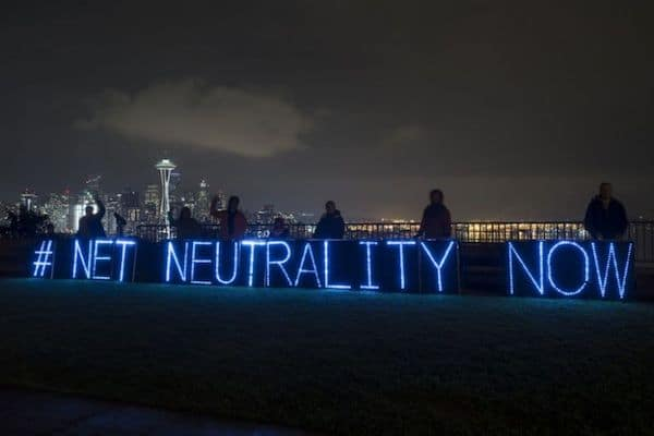 Rolling Rebellion demonstration in Seattle to defend Net Neutrality • Photo by Backbone Campaign