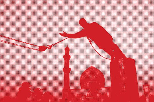 | A statue of Saddam Hussein being pulled down in Firdos Square in April 2003 | MR Online