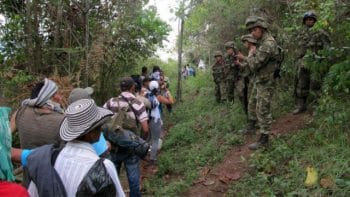 Displaced people in Colombia.