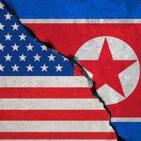 U.S. & North Korea flag
