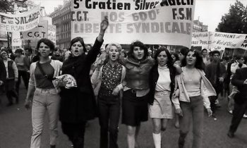 Student protesters march in Paris in May 1968 PHOTO: Fondation Gilles Caron