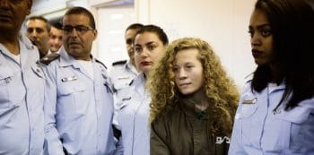 Ahed Tamimi in court yesterday