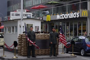 """""""Check Point Charlie"""" in Berlin, Germany"""