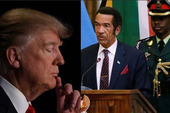 President Ian Khama of Botswana and Trump.