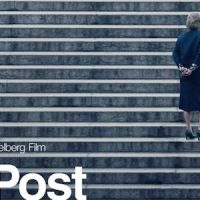 The post movie poster (Directed by Steven Spielberg. Starring Tom Hanks, Meryl Streep, Alison Brie, Carrie Coon.)