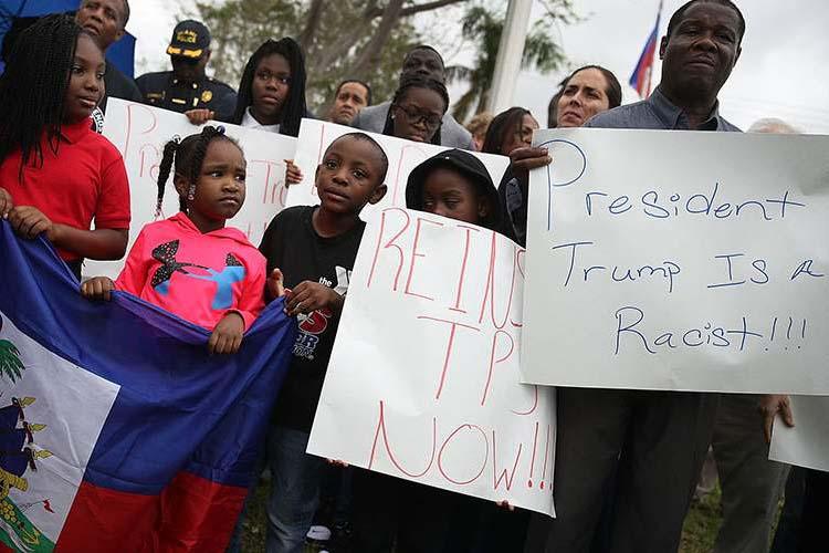 | Haitians protestesting Trump on the 8th anniversary of the massive earthquake in Haiti January 12 2018 | MR Online