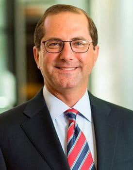 Alex Azar: former pharmaceutical boss and Trump's new Health and Human Services Secretary / Image: Eli Lilly