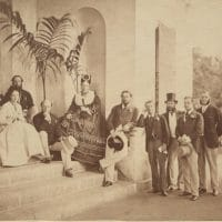 Group on the Pavilion Steps, Ceylon. National Acrhives CO 1069/569.
