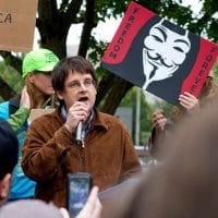 John Bellamy Foster speaking at an Occupy Demonstration in Eugene, OR