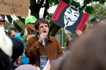 John Bellamy Foster speaking at an Occupy Demonstration in Eugene, OR