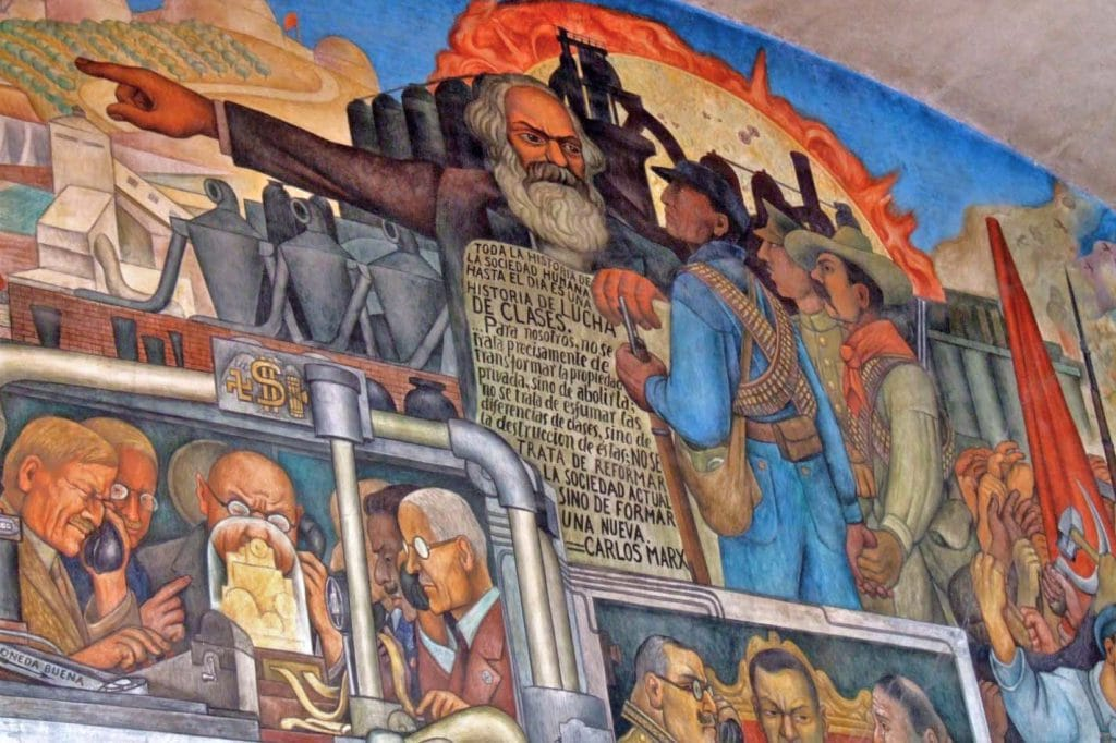 | Section of the Diego Riveras mural From the conquest to 1930 focusing on Marx and the class struggle | MR Online