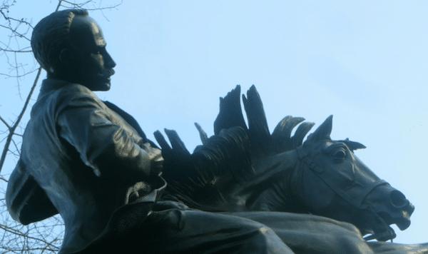 A statue of Jose Marti in New York