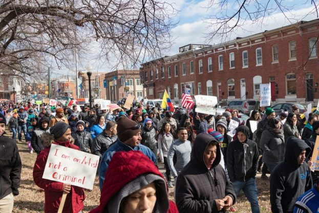 Baltimore Immigrant Rights Protest February 16 2017