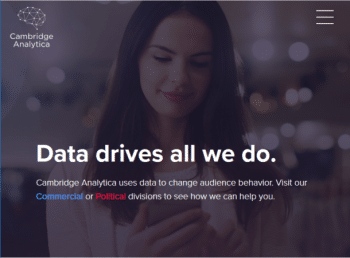 Cambridge Analytica's website