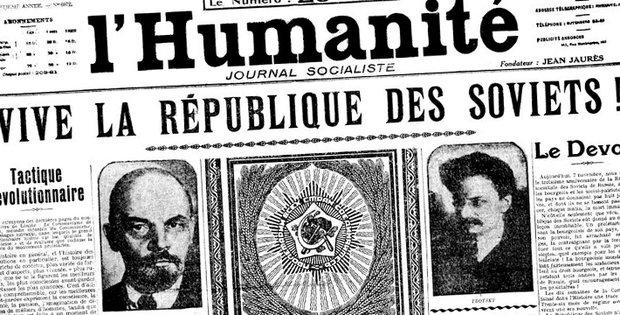 French daily newspaper L'Humanité on November 1917