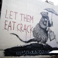 Let them eat crack (photo credit: Bansky)